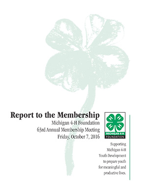 16 Report to the Membership Cover
