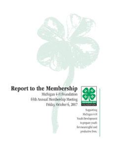 2017 Report to Membership Cover