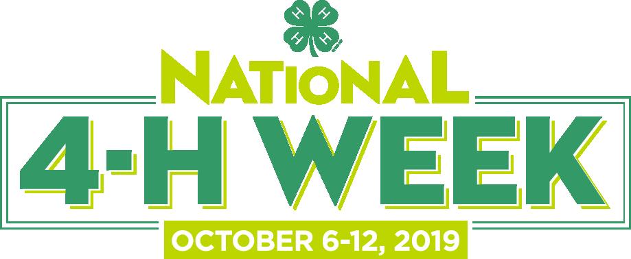National 4-H Week October 6-12, 2019