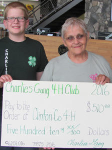 Charlie's Gang 4-H Club hosted a fundraiser to support the Clinton County 4-H Endowment Fund.